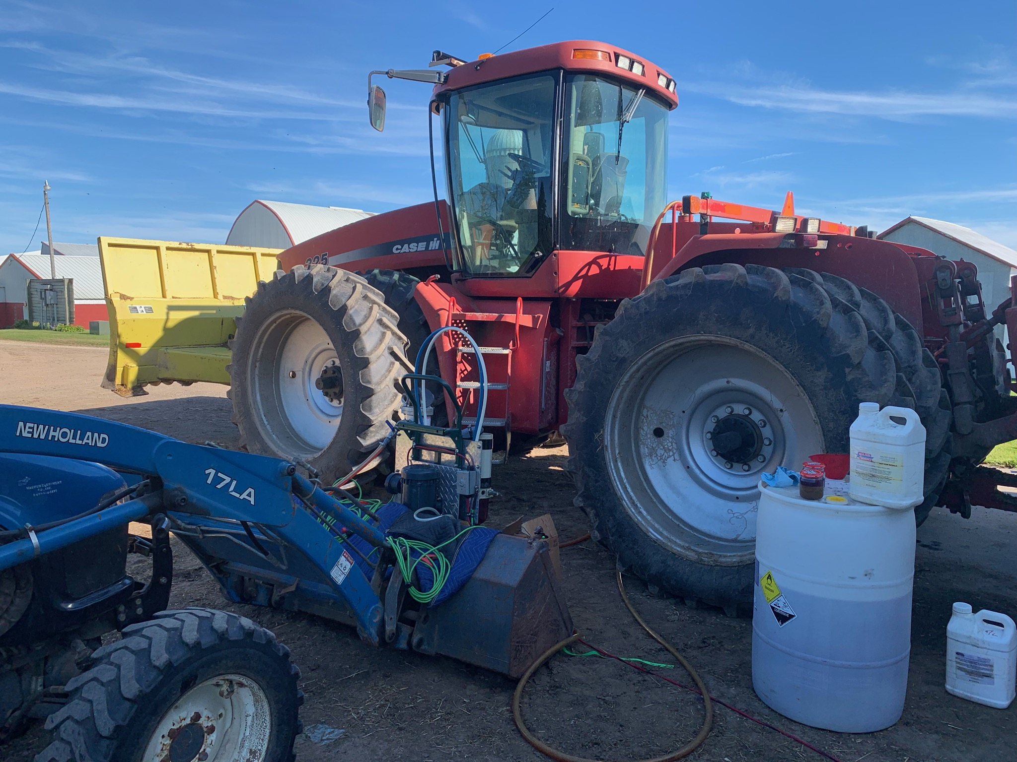 cleaning fuel in tractor