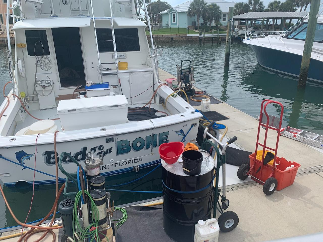 cleaing fuel in a boat in Florida
