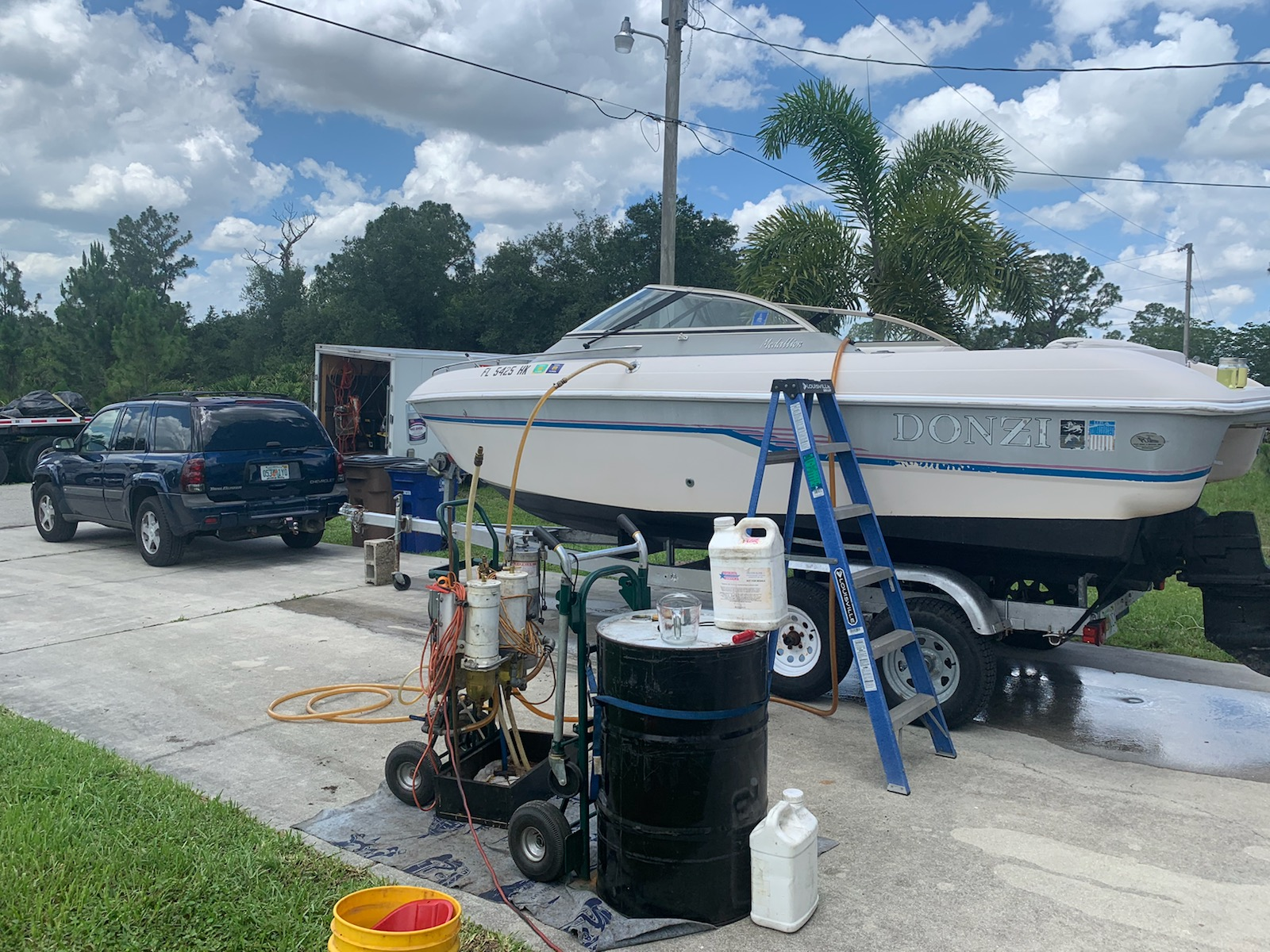 cleaning fuel in a boat in florida