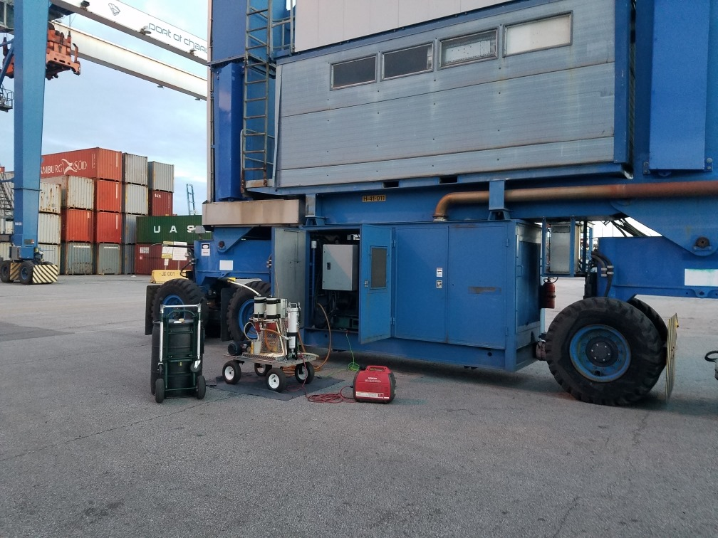 Cleaning fuel in a generator