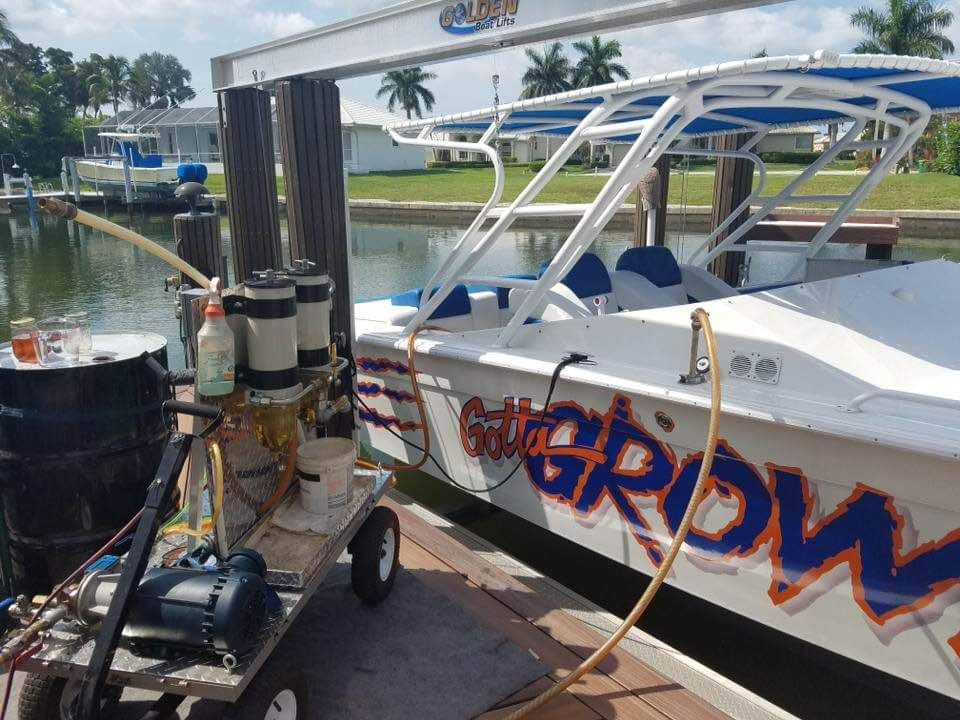 cleaning fuel in a boat in Marco Island