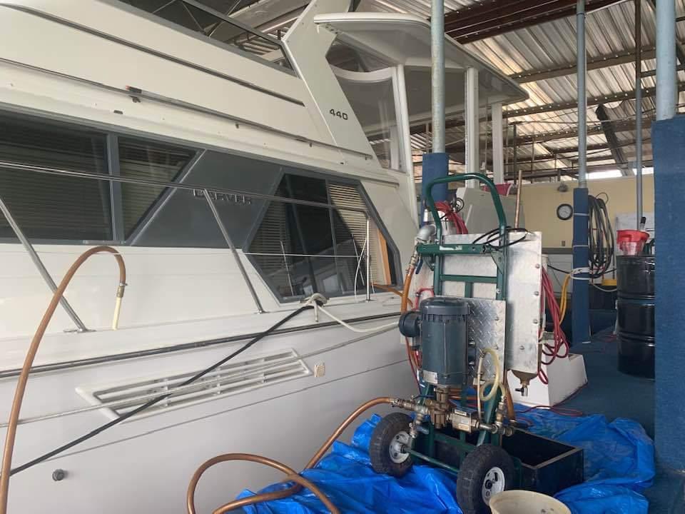 ploshing fuel in boat in texas